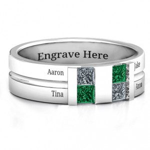 Personalised Leonidas Grooved Men's Ring - Handcrafted By Name My Rings™