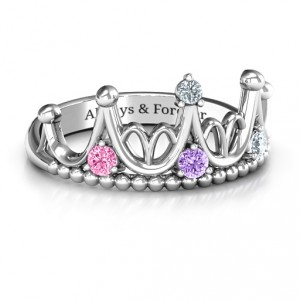 Personalised Like A Dream Tiara Ring - Handcrafted By Name My Rings™