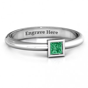 Personalised Ovation Classic Princess Setting Ring - Handcrafted By Name My Rings™