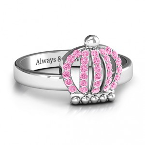 Personalised Queen Of The Castle Crown Ring - Handcrafted By Name My Rings™