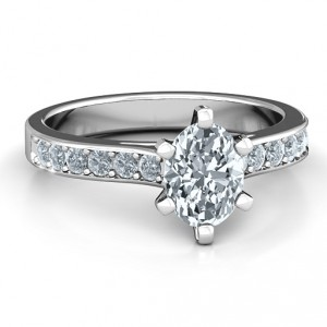 Personalised Shining in Love Ring - Handcrafted By Name My Rings™