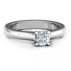 Personalised Simply Solitaire Ring - Handcrafted By Name My Rings™