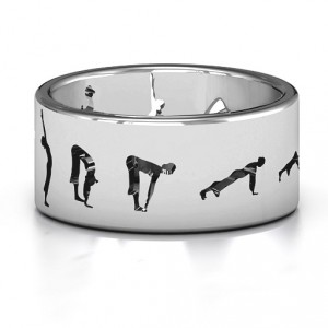 Personalised Sun Salutation Pose Ring - Handcrafted By Name My Rings™