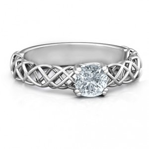 Personalised Tangled in Love Ring - Handcrafted By Name My Rings™