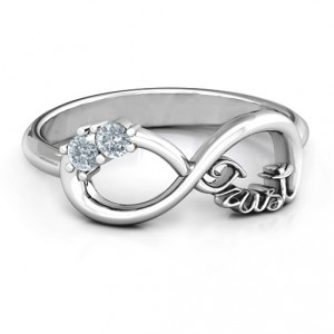 Personalised Trust Infinity Ring - Handcrafted By Name My Rings™