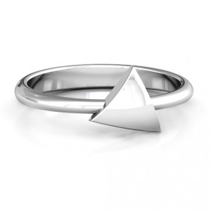Personalised Triangle Pebble Geometric Ring - Handcrafted By Name My Rings™