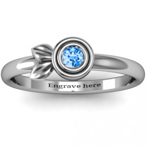 Personalised Twin Leaf Ring - Handcrafted By Name My Rings™