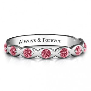 Personalised Vintage Glamour Accented Band - Handcrafted By Name My Rings™