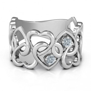 Personalised Your Heart and Mine Ring - Handcrafted By Name My Rings™