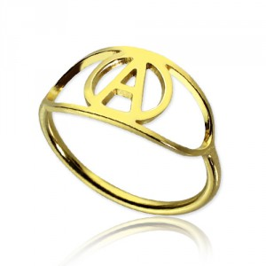 Personalised Eye Rings with Initial - Handcrafted By Name My Rings™