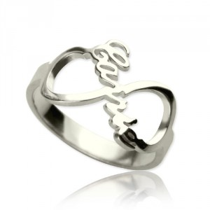 Personalised Infinity Nameplate Ring - Handcrafted By Name My Rings™