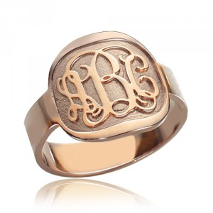 Personalised Engraved Round Monogram Ring - Handcrafted By Name My Rings™