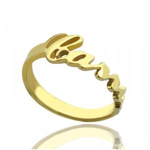 Personalised Custom Carrie Name Rings - Handcrafted By Name My Rings™