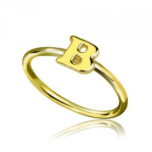 Personalised Custom Midi Initial Letter Ring - Handcrafted By Name My Rings™