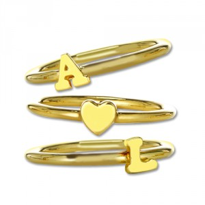 Personalised Stackable Initial Ring - Handcrafted By Name My Rings™