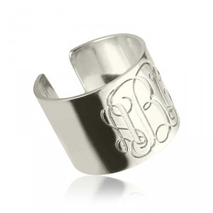 Personalised Monogram Cuff Ring - Handcrafted By Name My Rings™