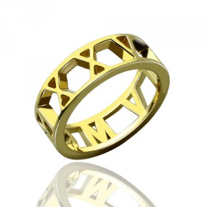 Personalised Roman Numeral Date Jewellery Rings - Handcrafted By Name My Rings™