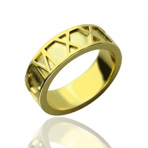 Personalised Roman Numeral Date Rings - Handcrafted By Name My Rings™
