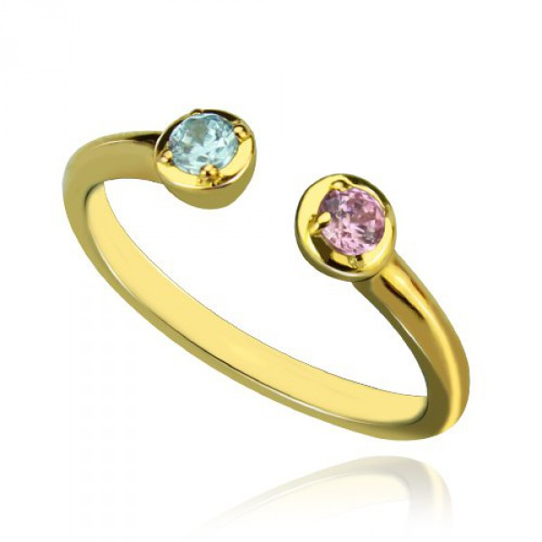 Personalised Dual Birthstone Ring - Handcrafted By Name My Rings™