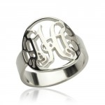 Personalised Cut Out Monogram Initial Ring - Handcrafted By Name My Rings™