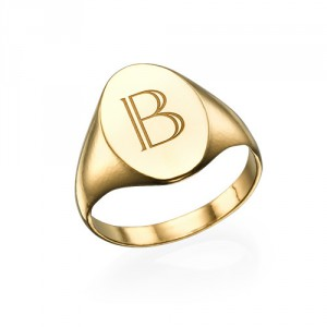 Personalised Initial Signet Ring - Handcrafted By Name My Rings™