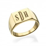 Personalised Monogrammed Signet Ring - Handcrafted By Name My Rings™