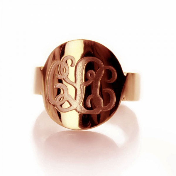 Personalised Engraved Script Monogrammed Ring - Handcrafted By Name My Rings™