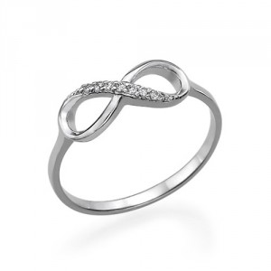 Personalised Cubic Zirconia Infinity Ring - Handcrafted By Name My Rings™