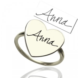 Personalised Signature Ring Handwriting - Handcrafted By Name My Rings™