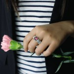 Personalised Engraved Name Mantilla Oval Engagement Ring - Handcrafted By Name My Rings™