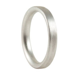 Personalised 3mm Brushed Matte Flat Court Wedding Ring - Handcrafted By Name My Rings™