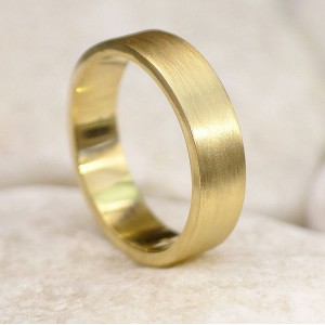 Personalised Mens Wedding Ring, Spun Silk Finish - Handcrafted By Name My Rings™