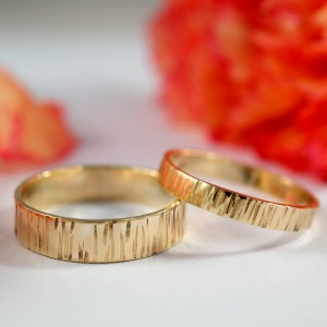 Personalised Bark Effect Rings - Handcrafted By Name My Rings™