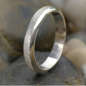 Personalised Diamond Cut Textured Ring - Handcrafted By Name My Rings™