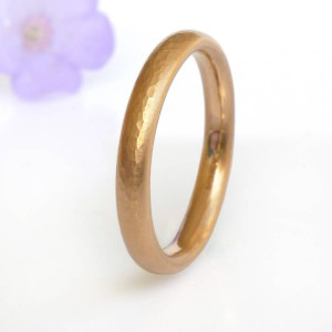 Personalised Hammered Comfort Fit Wedding Ring, - Handcrafted By Name My Rings™