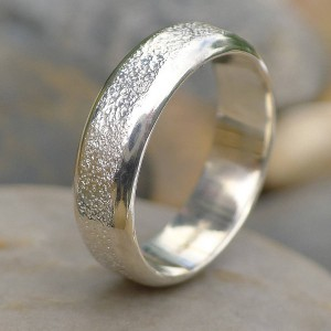 Personalised Mens Ring With Concrete Texture - Handcrafted By Name My Rings™