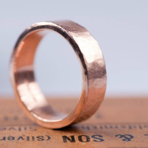 Personalised Organic Wide Ring - Handcrafted By Name My Rings™
