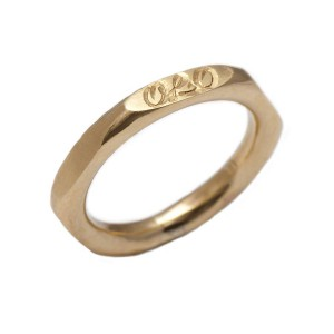 Personalised Hexagonal Ring - Handcrafted By Name My Rings™