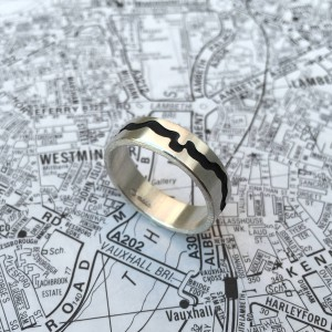 Personalised River Thames Cutout Ring - Handcrafted By Name My Rings™