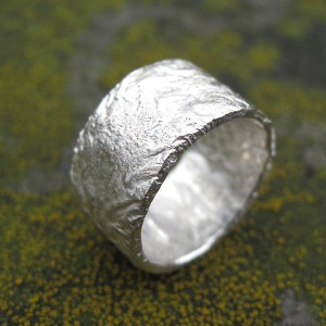 Personalised Rocky Outcrop Broad Ring - Handcrafted By Name My Rings™