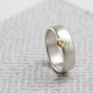 Personalised Slim Offset Ring - Handcrafted By Name My Rings™